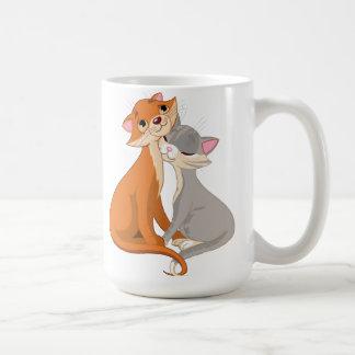 Gatos en taza del amor