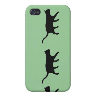 Gatos en una fila iPhone 4 funda