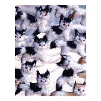 gatos espeluznantes plantillas de membrete