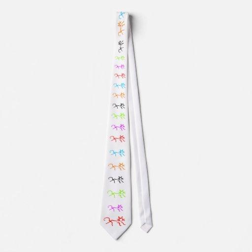 Gatos estilizados corbata