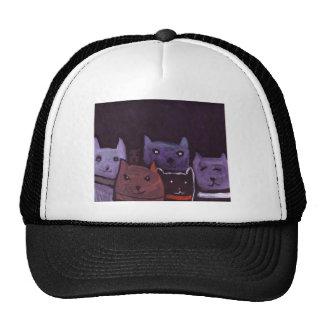 Gatos fantasmagóricos gorro de camionero