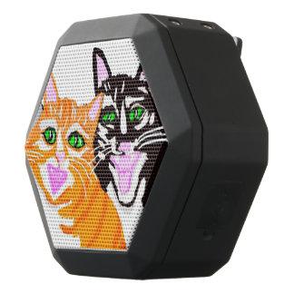 Gatos felices altavoces bluetooth negros boombot REX