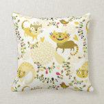 Gatos florales almohadas