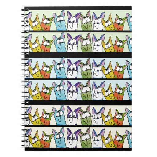 Gatos Formación-Coloridos del gatito Notebook