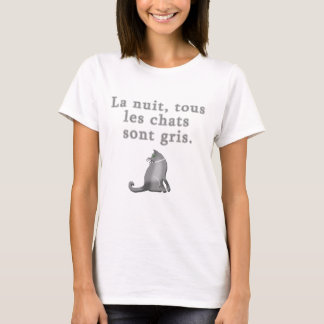 Gatos franceses que dicen productos playera