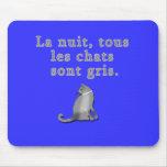 Gatos franceses que dicen productos alfombrillas de raton