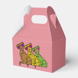 Gatos frescos del guepardo caja para regalos de fiestas
