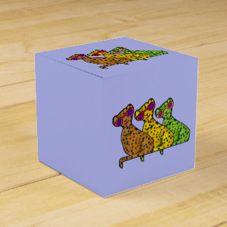 Gatos frescos del guepardo cajas para regalos de boda