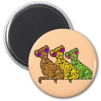 Gatos frescos del guepardo imán de nevera