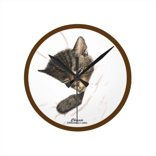 Gatos: Gatito el dormir de Chessie: Hogar: Relojes