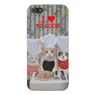 Gatos/gatitos adaptables del cocinero iPhone 5 funda
