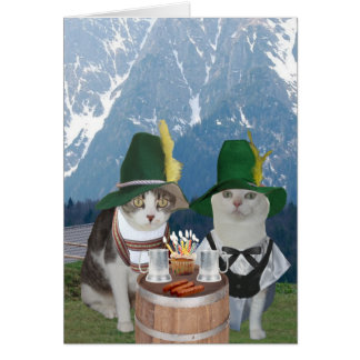 Gatos/gatitos alemanes divertidos adaptables para tarjeta de felicitación