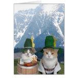 Gatos/gatitos alemanes divertidos adaptables tarjetas