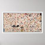 Gatos: Gatos de Utagawa Kuniyoshi Posters