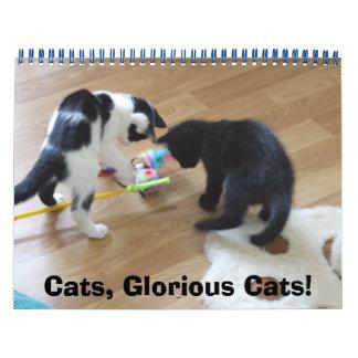 Gatos, gatos gloriosos calendario de pared
