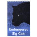 Gatos grandes en peligro calendario