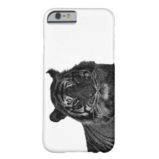 Gatos grandes en peligro tigre salvaje de la funda de iPhone 6 barely there