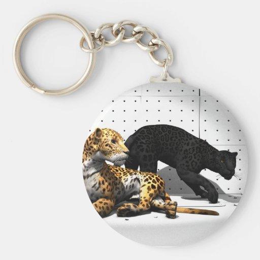 Gatos grandes - leopardos llavero personalizado
