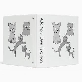 """Gatos grises carpeta 1 1/2"""""""