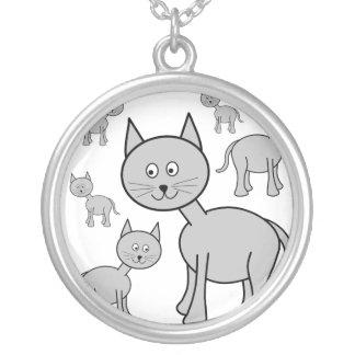 Gatos grises lindos. Historieta del gato Colgante Redondo
