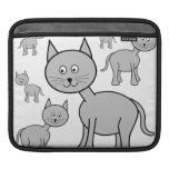 Gatos grises lindos. Historieta del gato Fundas Para iPads
