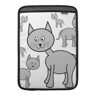 Gatos grises lindos. Historieta del gato Funda Macbook Air