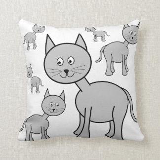 Gatos grises lindos Historieta del gato Cojin