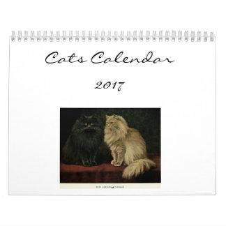 Gatos hermosos calendario de pared