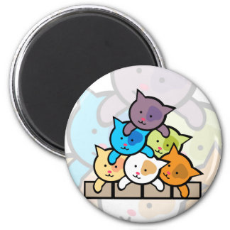 Gatos Imán Redondo 5 Cm