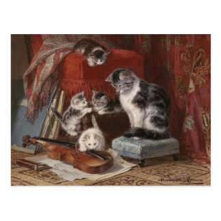 Gatos juguetones - Ronner Tarjeta Postal