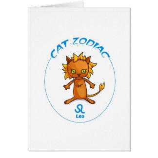 Gatos Leo del zodiaco Tarjeta Pequeña