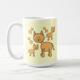 Gatos lindos del jengibre. Historieta anaranjada d Tazas