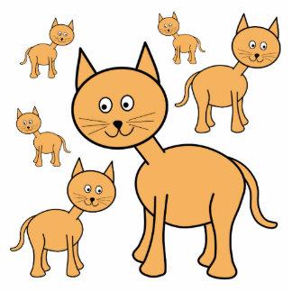 Gatos lindos del jengibre.  Historieta del gato Esculturas Fotográficas