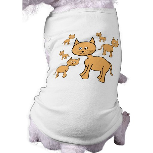 Gatos lindos del jengibre.  Historieta del gato Camiseta De Perro