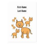 Gatos lindos del jengibre.  Historieta del gato Tarjetas Personales