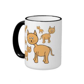 Gatos lindos del jengibre.  Historieta del gato Taza