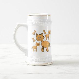 Gatos lindos del jengibre.  Historieta del gato Tazas De Café