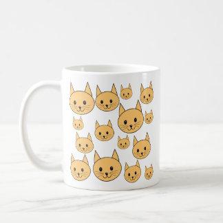 Gatos lindos del jengibre tazas