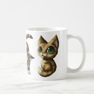 Gatos lindos taza de café