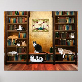 Gatos literarios poster