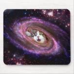 Gatos LOL Mousepad del espacio de la galaxia