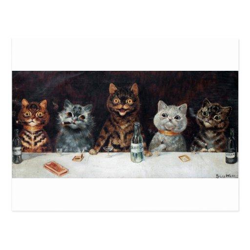 Gatos, Louis Wain Tarjetas Postales