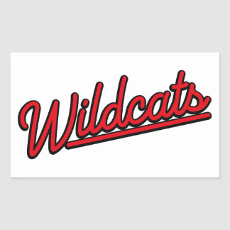 Gatos monteses en rojo pegatina rectangular