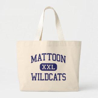 Gatos monteses Mattoon medio Illinois de Mattoon Bolsa Tela Grande