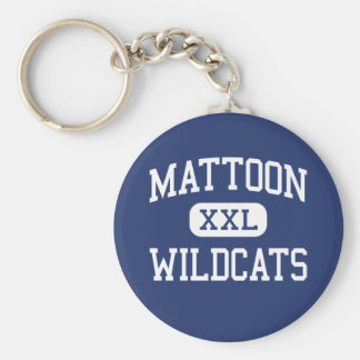 Gatos monteses Mattoon medio Illinois de Mattoon Llavero Redondo Tipo Pin
