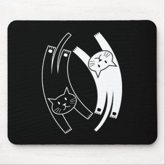 Gatos Mousepad de Yin y de Yang
