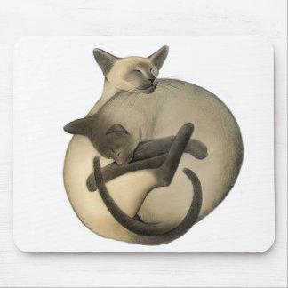 Gatos Mousepad del amor de Yin Yang Tapete De Ratón