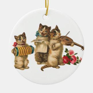 Gatos musicales adorno para reyes