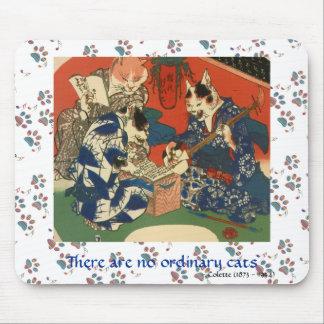 Gatos musicales japoneses en el arte Mousepad de l Tapetes De Ratón