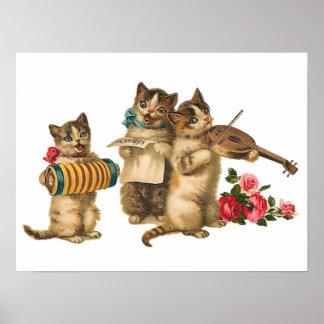 Gatos musicales impresiones
